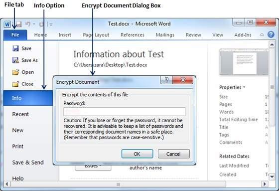 Очистить диалоговое окно пароля