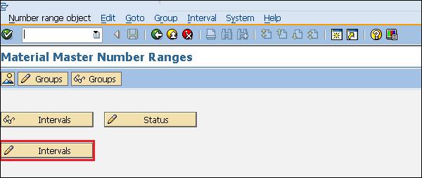 Интервал диапазона номеров SAP