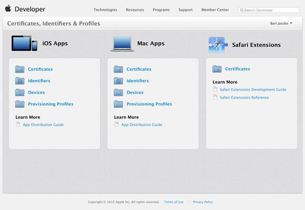 Сертификаты iOS Apps
