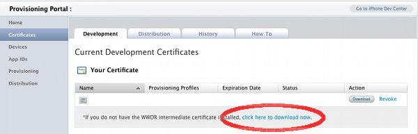 Сертификат Apple iPhone WWDR